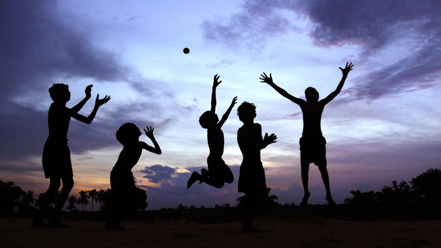 Kids Playing in India